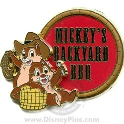 Disney Mickey's Backyard BBQ Pin - Chip and Dale