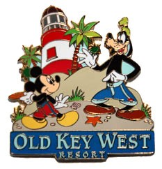 Disney Resort Pin - Old Key West - Mickey & Goofy