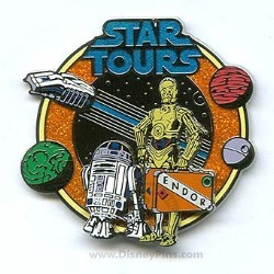 Disney Star Tours Logo Pin - R2-D2 and C-3PO