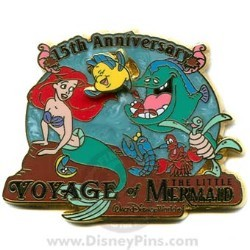 Disney Voyage of the Little Mermaid Pin - 15th Anniversary