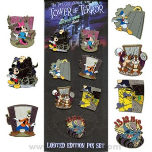 Disney Collector Pin Set - The Twilight Zone (TM) Tower of Terror