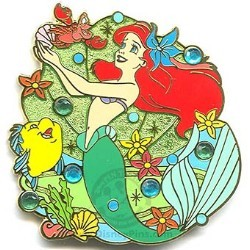 Disney Little Mermaid Pin - Ariel, Flounder and Sebastian