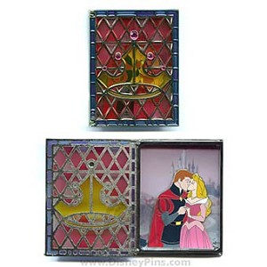 Disney Jumbo Pin - Storybook Princess - Aurora and Prince Phillip