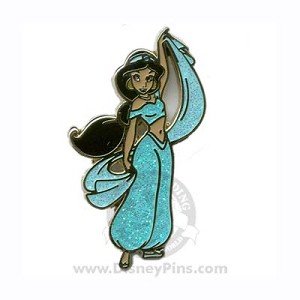 Disney Princess Pin - Glitter Dress - Jasmine