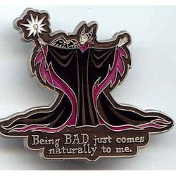 Disney Maleficent Pin - Being Bad Naturally