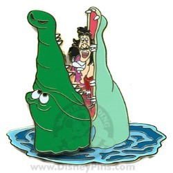 Disney Captain Hook and Crocodile Pin