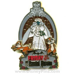 Disney Friday the 13th Pin - The Haunted Mansion - Chip and Dale
