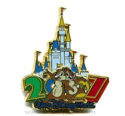 Disney Chip & Dale Pin - 2007 Cinderella Castle Collection