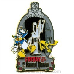 Disney Friday the 13th Pin - The Haunted Mansion - Donald and Pluto