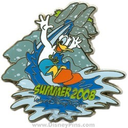 Disney Summer Pin - Donald Duck on Water Slide