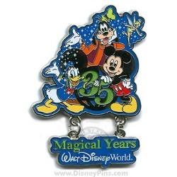 Disney 35th Anniversary Pin - Mickey Mouse and Friends
