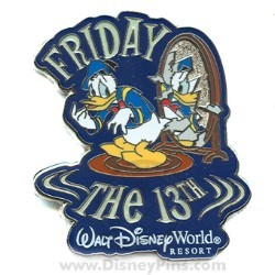 Disney Friday the 13th Pin - Donald Duck