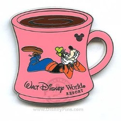 Disney Hidden Mickey Pin - 2006 Collection - Goofy on Coffee Cup