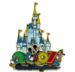 Disney Cinderella Castle Collection Pin - 2007 Mickey, Goofy & Donald