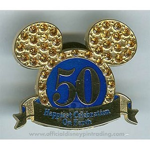 Disney Mickey Ears Hat Pin - Happiest Celebration On Earth - Jeweled