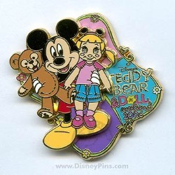 Disney Teddy Bear and Doll Weekend Pin - 2006