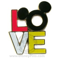 Disney Mickey Pin - Mickey Icon Love