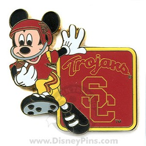 Disney Mickey Pin - NCAA Football - University of Southern California
