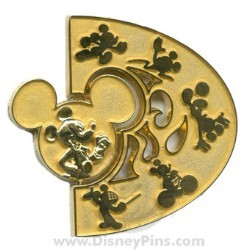 Disney Summer of Champions Pin - Gold Medal Spinner