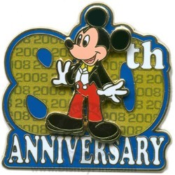 Disney Mickey Pin - Mickey's 80TH Anniversary - 2008
