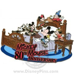 Disney Mickey Pin - 80th Anniversary - Super Jumbo