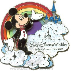 Disney Where Dreams Come True Rainbow Pin - Mickey