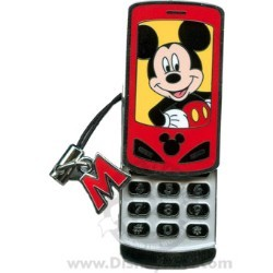 Disney Mickey Mouse Pin - Cell Phone