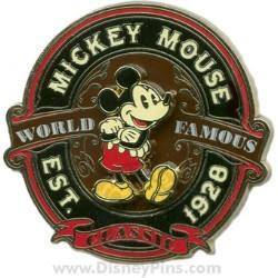 Disney Mickey Mouse Pin - World Famous Classic