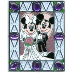 Disney Wedding Pin - Photo - Mickey and Minnie