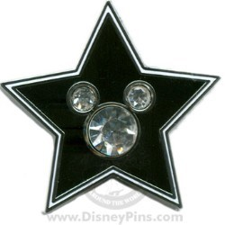 Disney Mickey Icon Pin - Star with Jeweled