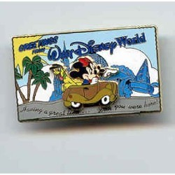 Disney Mickey Pin - Postcard