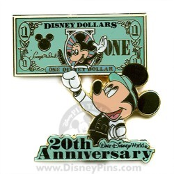 Disney Dollars Pin - 20th Anniversary