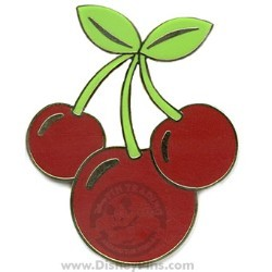 Disney Mickey Icon Pin - Cherries