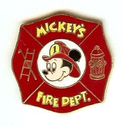 Disney Mickey Pin - Fire Department