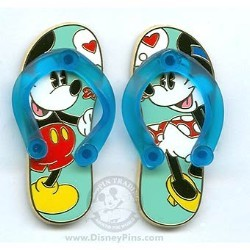 Disney Sandals Pin - Mickey & Minnie