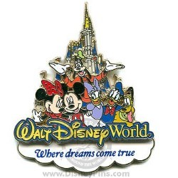 Disney Mickey & Friends Pin - Where Dreams Come True - Storybook Logo