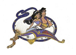 Disney Aladdin Pin - Platinum Edition