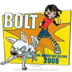 Disney Bolt Pin - Countdown #2 - Bolt and Penny