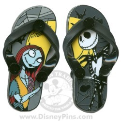 Disney Sandals Pin - Jack Skellington and Sally