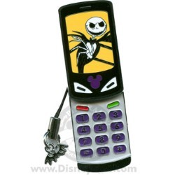 Disney Cell Phone Pin - Jack Skellington