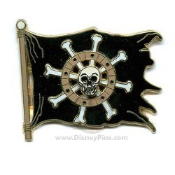 Disney Pirates Pin - Skull Flag