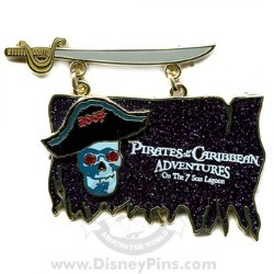 Disney Pirates Pin - Pirate Flag and Sword