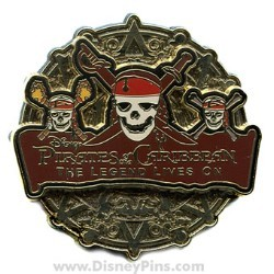 Disney Pirates of the Caribbean Pin - Legend Lives On - Coin