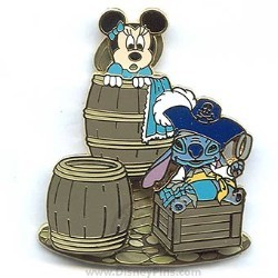 Disney Pirates Pin - Minnie Mouse and Stitch