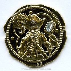 Disney Pirates Pin - Gold Coin with Diamond Stone