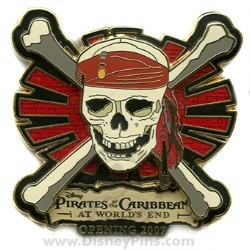 Disney Pirates of the Caribbean Pin - Countdown #7 - Movie Logo