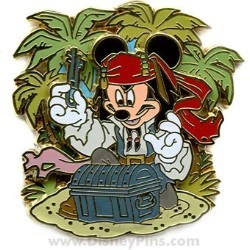 Disney Pirates Pin - Mickey Mouse as Jack Sparrow