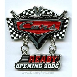 Disney - Pixar's Cars Pin - Countdown - Ready - Movie Logo