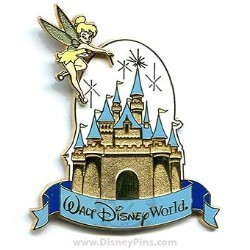 Disney Tinker Bell Pin - Cinderella Castle