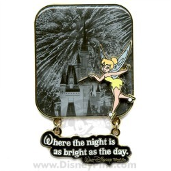 Disney Tinker Bell Pin - Where the Night is as Bright as the Day